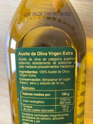 Acieta de oliva - Ingredients