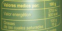 Aceite de oliva virgen extra spray Carrefour - Nutrition facts