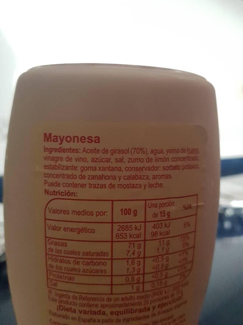Mayonesa pet - Ingrédients - es