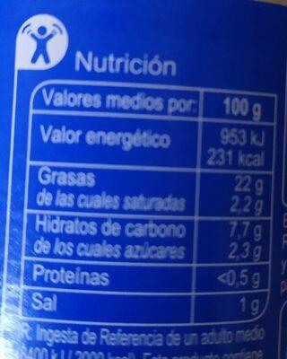 Salsa ligera carrefour - Informations nutritionnelles