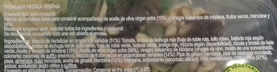 Ensalada Vegana - Ingrédients