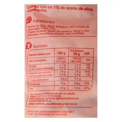 Colin clásico - Informations nutritionnelles - es