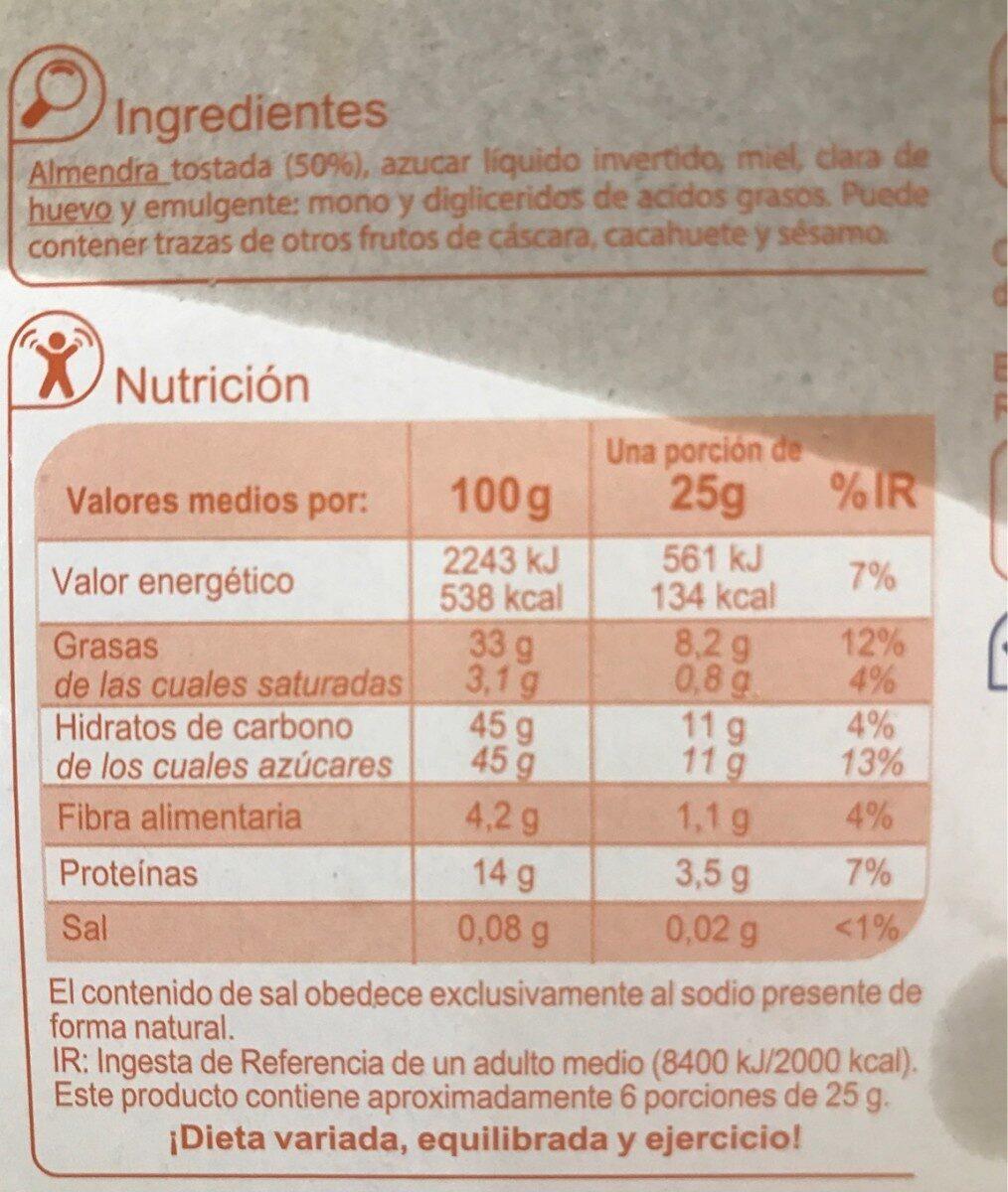 Turrón blando - Informations nutritionnelles - fr