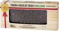 Turrón de chocolate negro y avellanas - Producto - es
