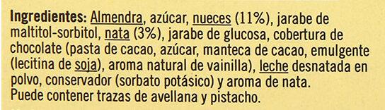 Turrón nata nuez - Ingredientes - es