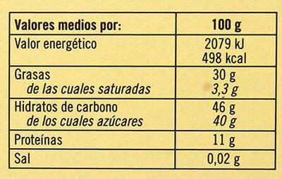 Turrón nata nuez - Información nutricional - es