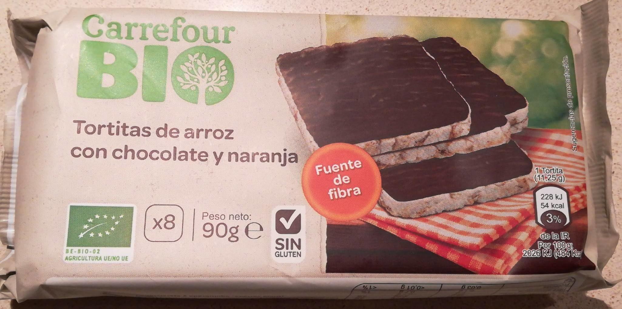Tortitas arroz chocolate negro naranja - Produit - fr