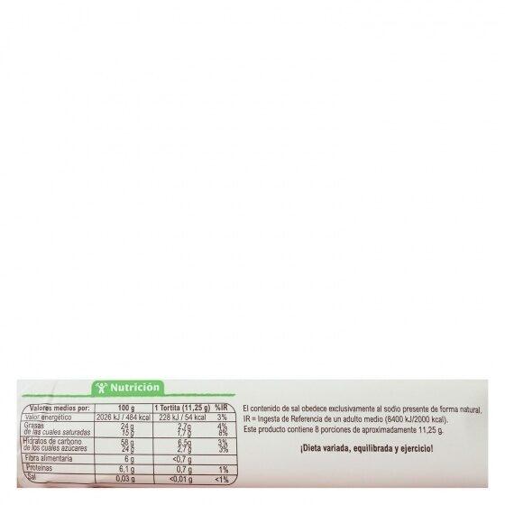Tortitas arroz chocolate negro naranja - Informations nutritionnelles - es