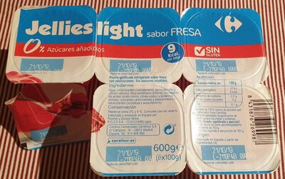 Jellies light sabor fresa - Producte