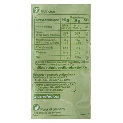 Patatas fritas lisas campesinas - Informació nutricional - es