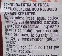Confitura extra fresa light - Ingrédients