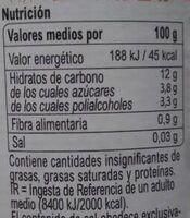 Confitura extra fresa light - Informations nutritionnelles