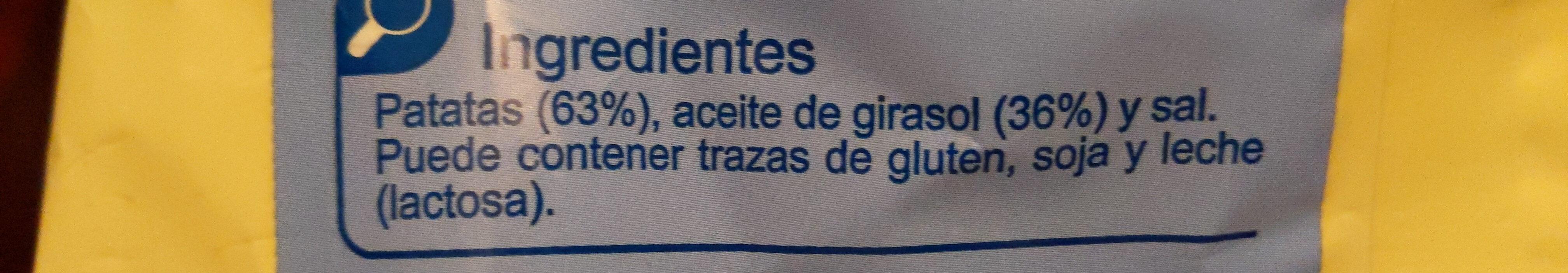 Patatas Fritas Onduladas - Ingrédients - es