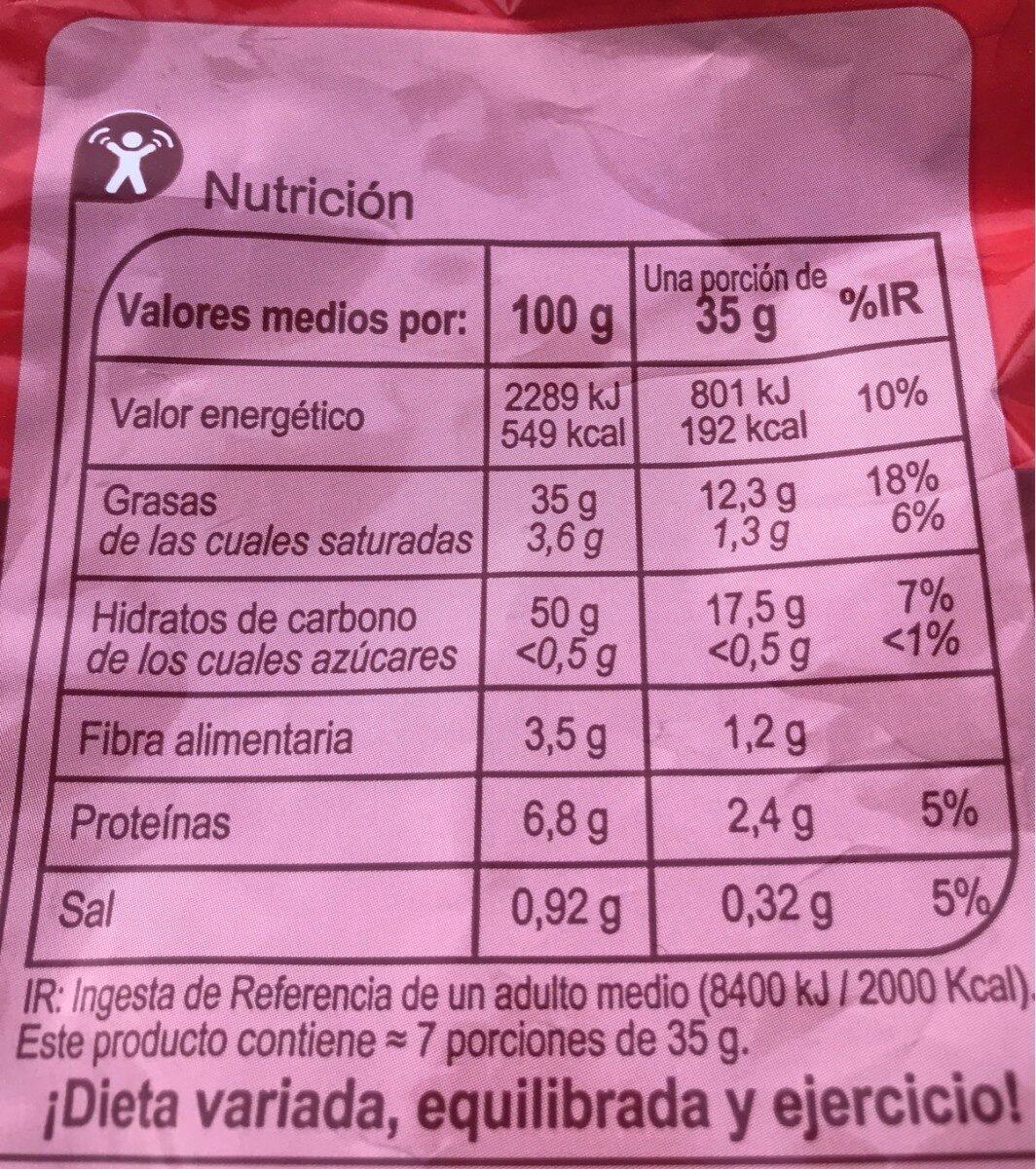 Patatas fritas lisas - Informations nutritionnelles - fr