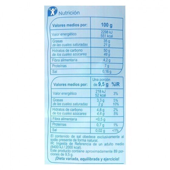 Bombon Surtido - Nutrition facts - es