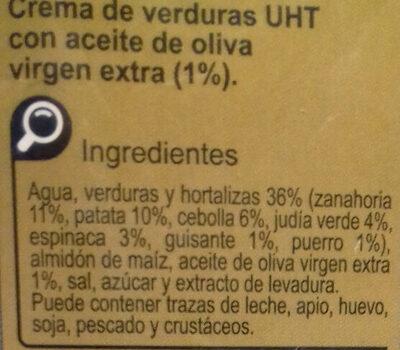 Crema verduras huerta - Ingredientes - es