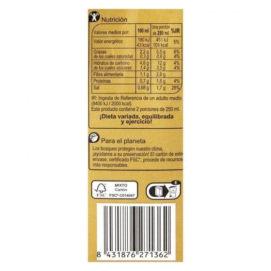 Crema verduras huerta - Información nutricional - es