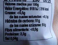Datiles sin hueso - Nutrition facts - es