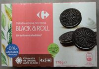 Galleta rellena de crema Black & Roll - Product