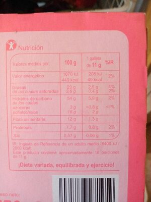 Galleta rellena de crema Black & Roll - Nutrition facts
