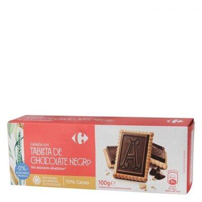 Galleta tableta chocolate s/azúcares añadidos - Product - es