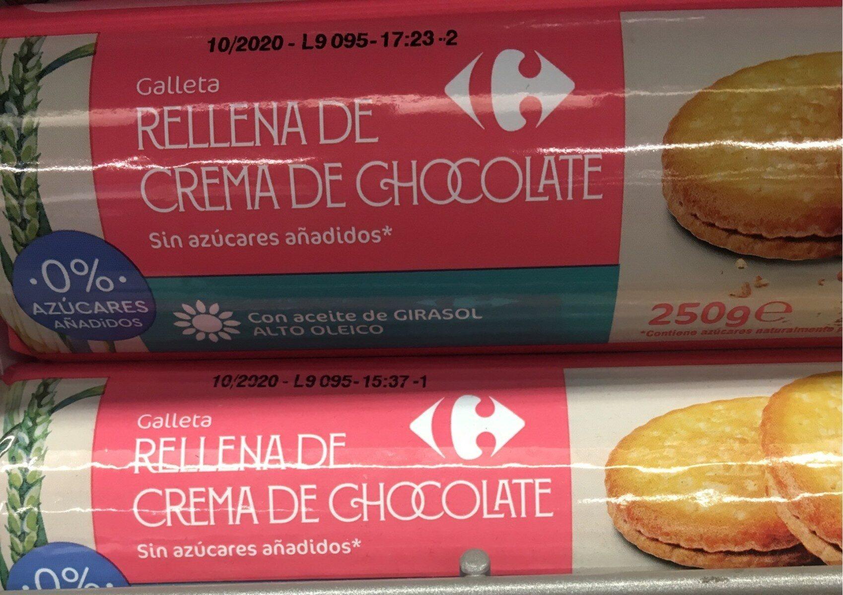 Galleta rellena de crema de chocolate - Producto