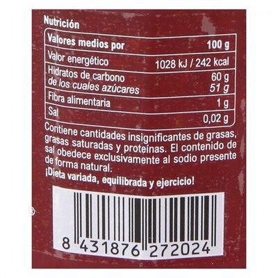 Confitura fresa - Información nutricional - es