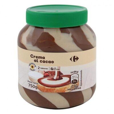 Crema untar 2 sabores 4% avellana sin aceite palma - Producto - es