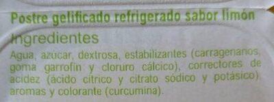 Jellies limón - Ingredientes - es