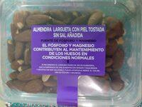 Almendra Largueta con piel tostada sin sal añadida - Producto - es