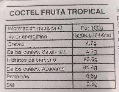 Coctel fruta tropical - Informations nutritionnelles - es