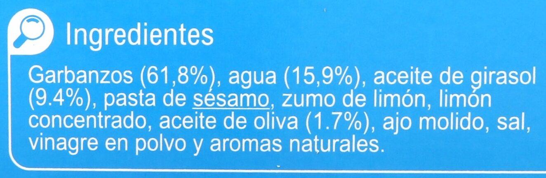 Hummus Light - Ingredientes