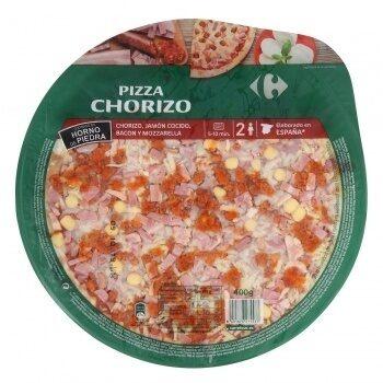 Pizza chorizo jamón y bacon - Producto - es