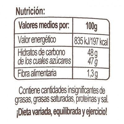 Mermelada fresa - Voedingswaarden - es