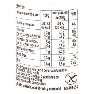 Crema calabaza - Informations nutritionnelles - es