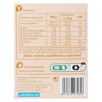 Café con leche - Valori nutrizionali - es