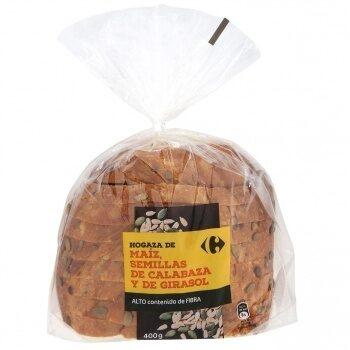 Hogaza de pan harina maiz c/pipa calabaza y girasol - Producto - es