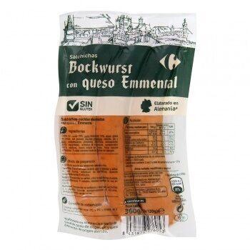 Salchicha bockwurst con queso emmental - Producto - es