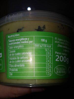 Guacamole carrefour - Voedingswaarden - es