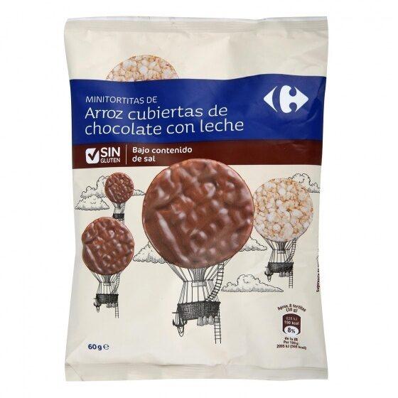Mini tortitas arroz cubiertas choco c/leche - Producte - es