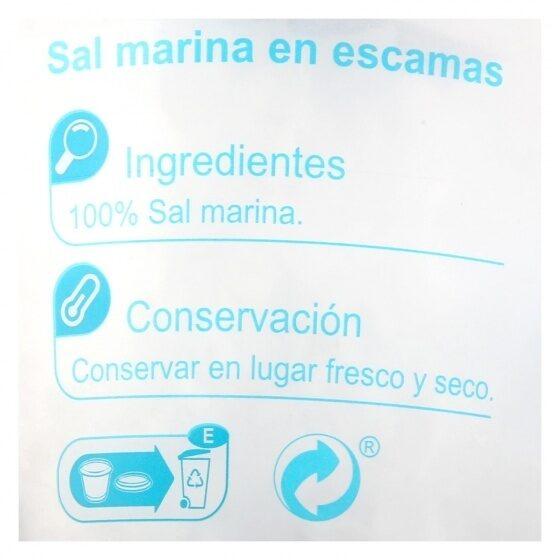 Sal marina en escamas - Informació nutricional - es