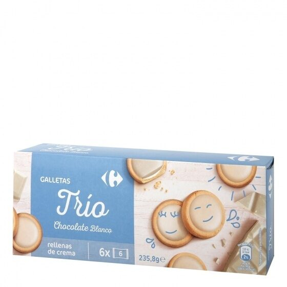 Galletas trios chocolate blanco - Product - es