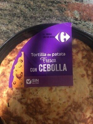 Tortilla cebolla - Ingredientes - es