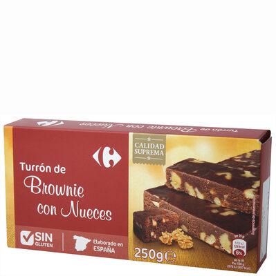 Turrón brownie con nueces - Producto - es