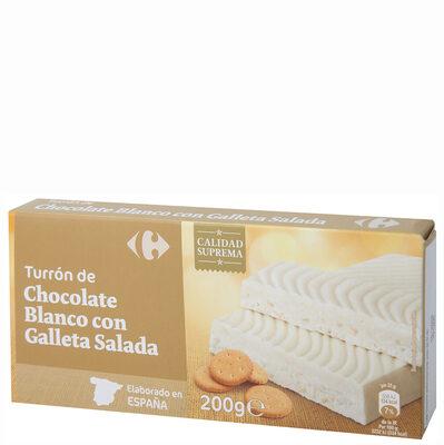 Turrón chocolate blanco con galleta - Producto - es