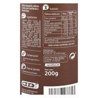 Barquillos rellenos crema almendra - Nutrition facts - es