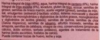 Pan maxi burguer 100% integral con centeno - Ingredients - es