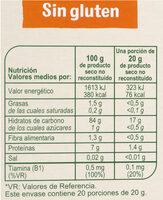 Cereales sin gluten - Información nutricional - es