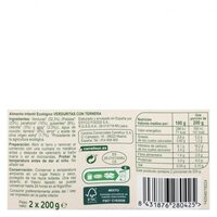 Tarrito verduras ternera - Informations nutritionnelles - es