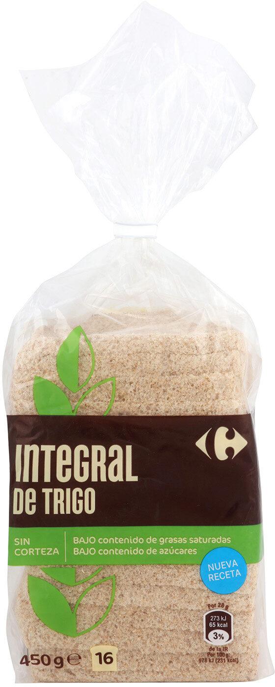 Pan de molde 100% integral sin corteza - Produit - es